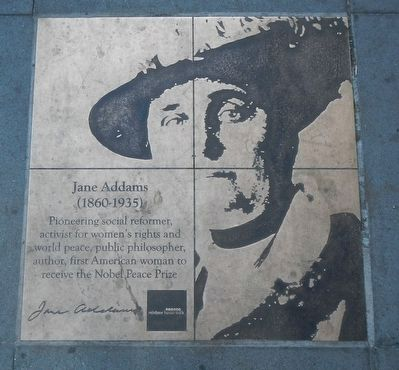 Jane Addams Marker image. Click for full size.