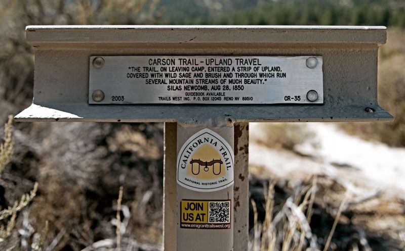 Carson Trail - Upland Travel Marker image. Click for full size.