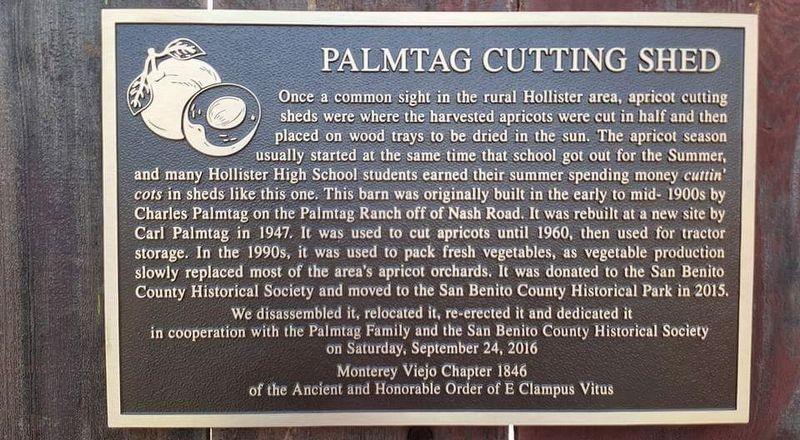 Palmtag Cutting Shed Marker image. Click for full size.