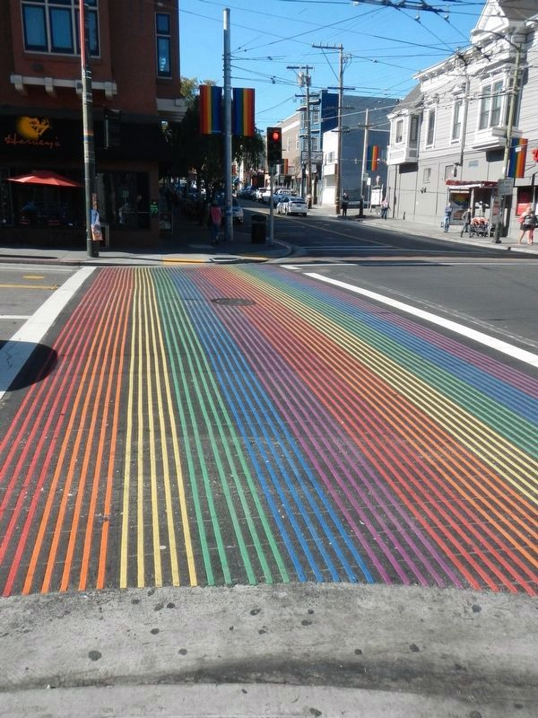 Crosswalk at the intersection of Castro Street and 18th Street image. Click for full size.
