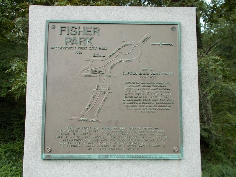Fisher Park Marker image. Click for full size.