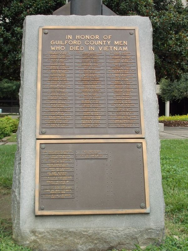 Guilford County Vietnam Memorial Marker image. Click for full size.