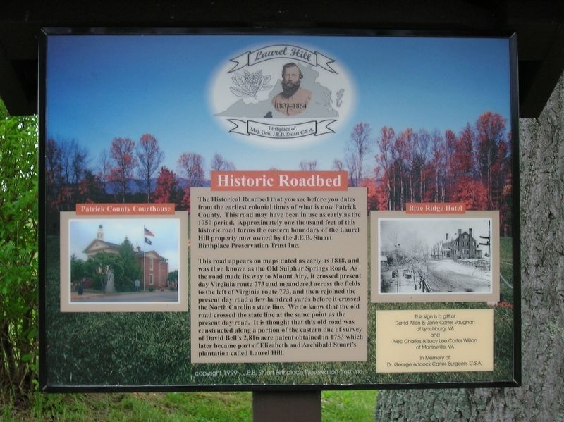 Historic Roadbed Marker image. Click for full size.