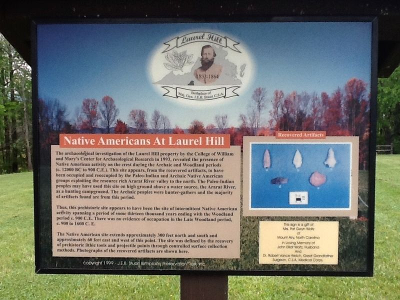 Native Americans At Laurel Hill Marker image. Click for full size.