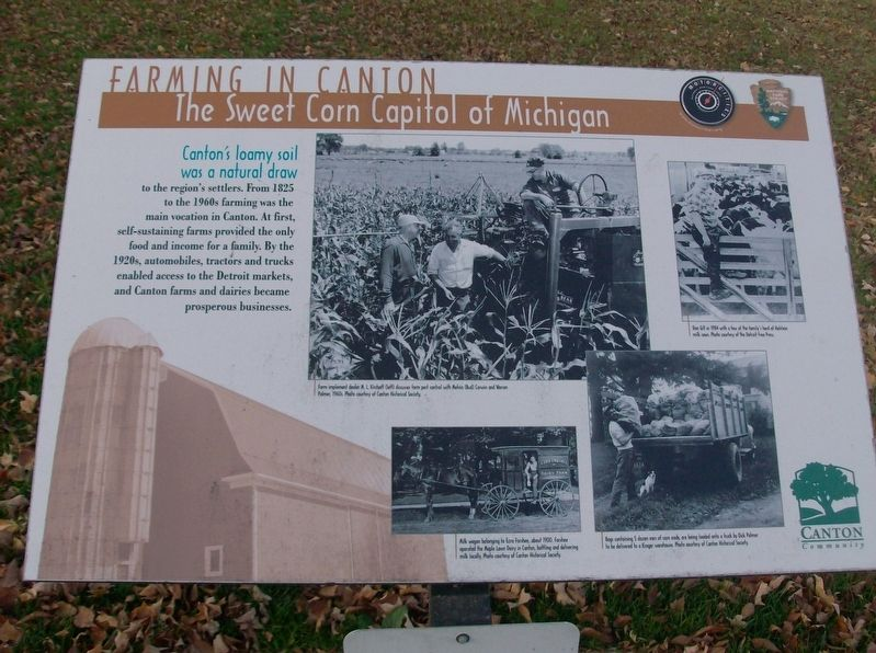 Farming in Canton: The Sweet Corn Capitol of Michigan Marker image. Click for full size.