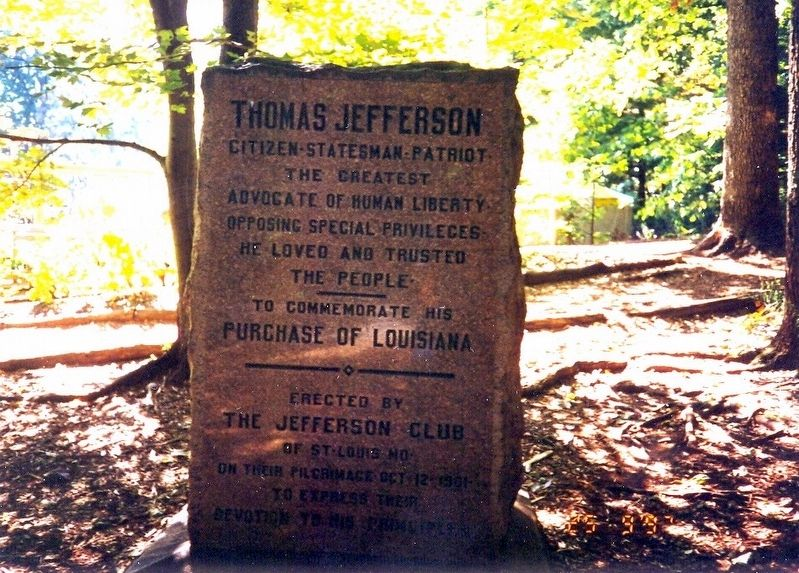Thomas Jefferson Marker image. Click for full size.