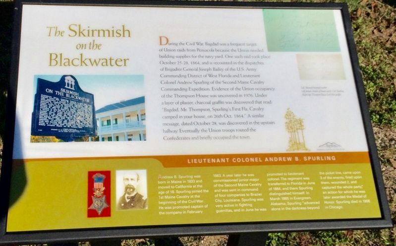 The Skirmish on the Blackwater Marker image. Click for full size.