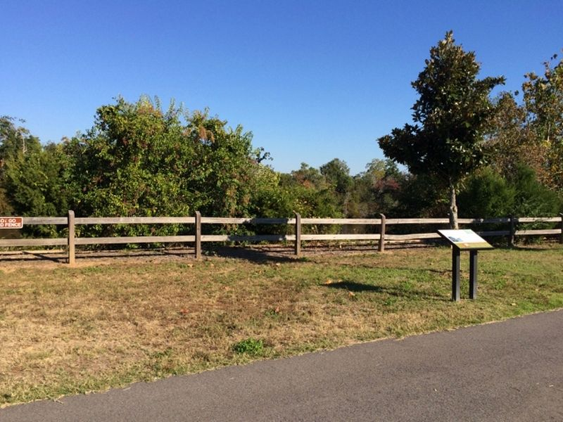 Skirmish on the Blackwater Marker alongside the Blackwater River (below fence and trees) image. Click for full size.