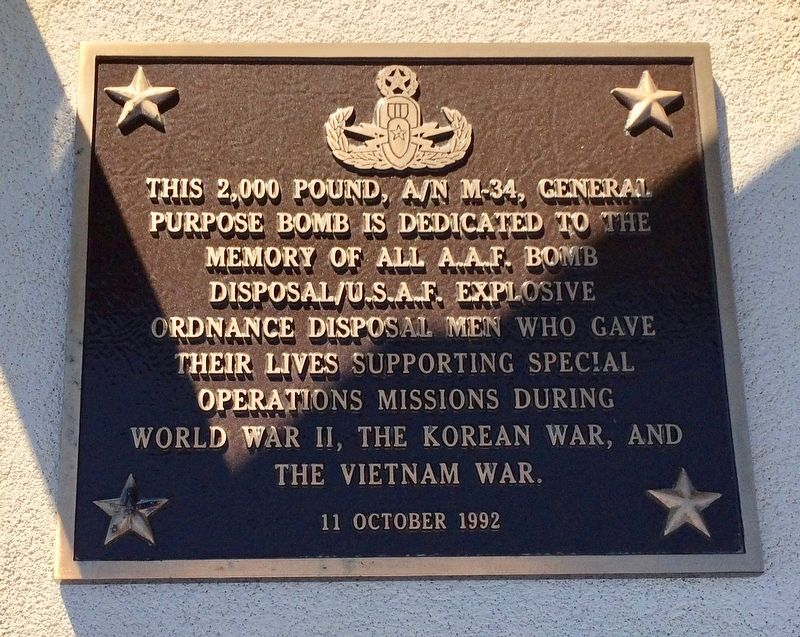 A.A.F / U.S.A.F Explosive Ordnance Disposal Memorial image. Click for full size.