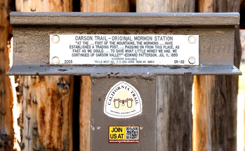 Carson Trail - Original Mormon Station Marker image. Click for full size.