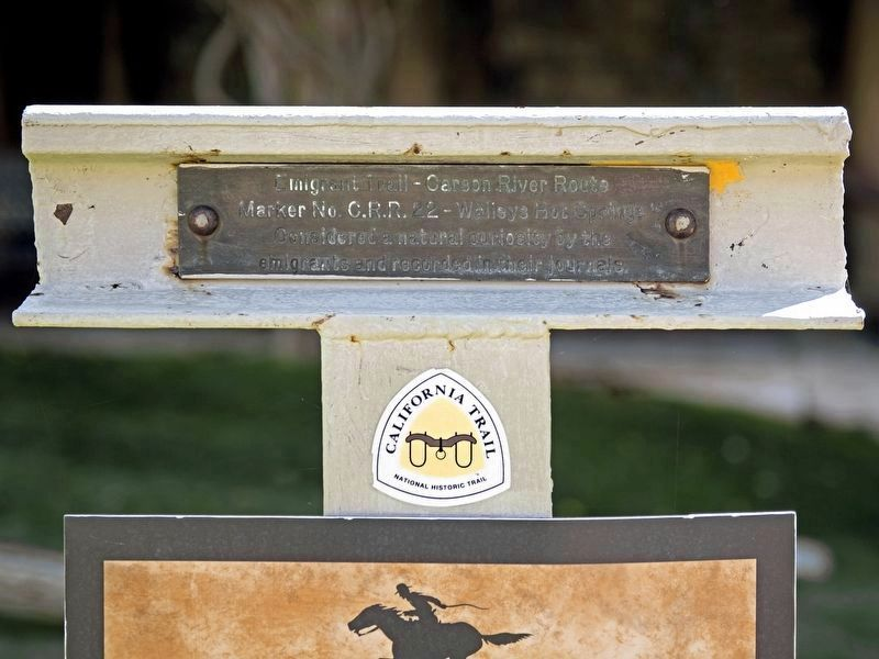 Emigrant Trail - Carson River Route Marker No. C.R.R. 22 image. Click for full size.