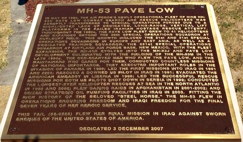 MH-53 Pave Low Marker image. Click for full size.