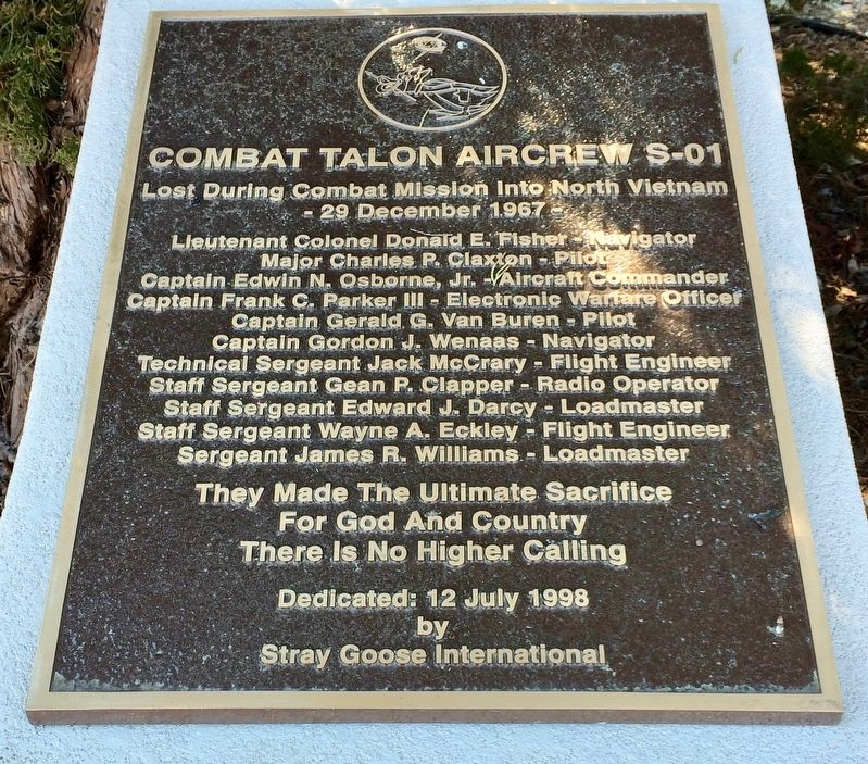 Combat Talon Aircrew S-01 Marker image. Click for full size.