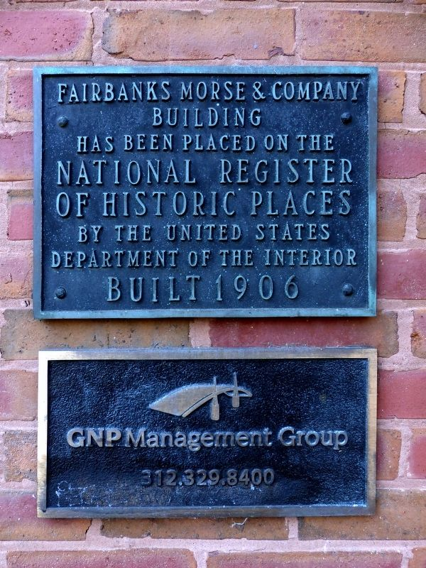 Fairbanks Morse & Company Building Marker image. Click for full size.