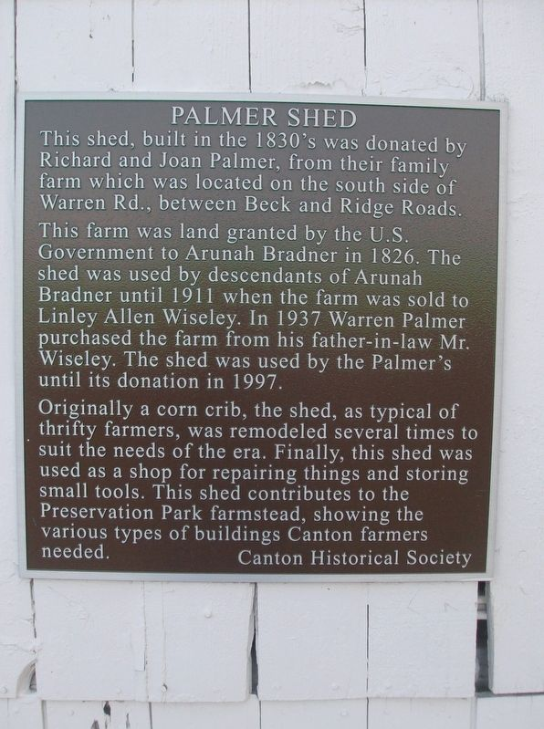 Palmer Shed Marker image. Click for full size.