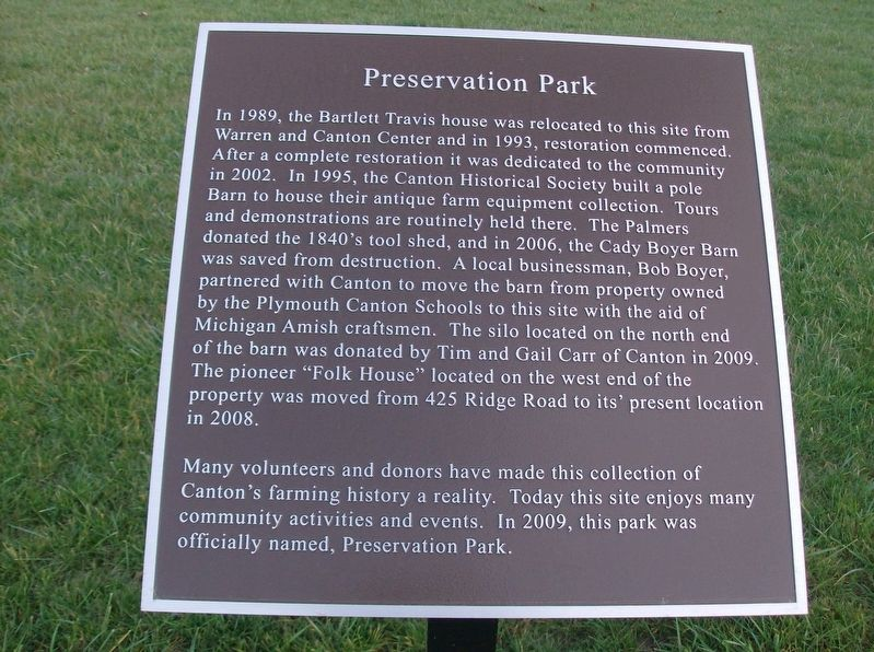 Preservation Park Marker image. Click for full size.