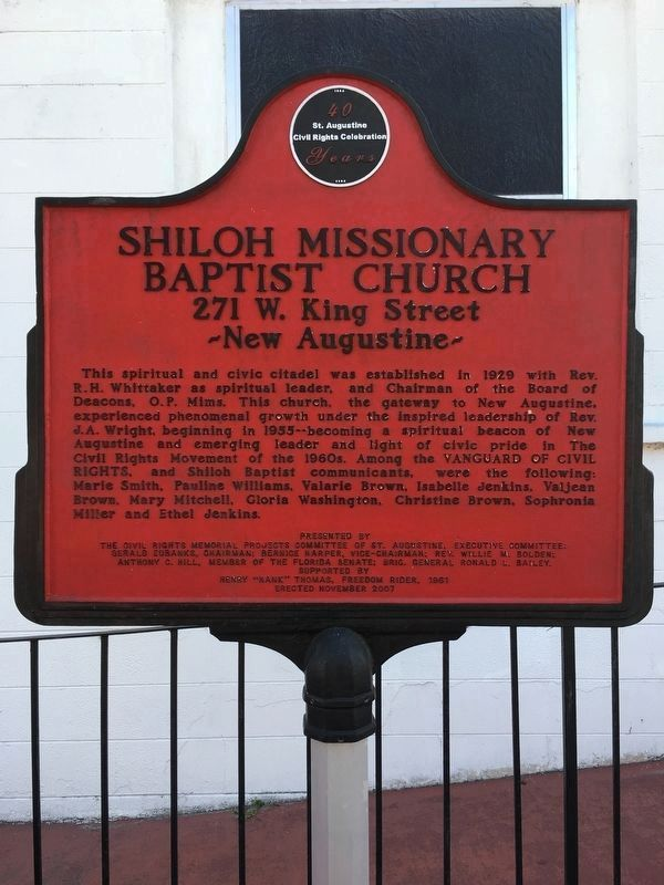 Shiloh Missionary Baptist Church Marker image. Click for full size.