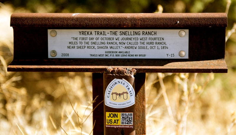 Yreka Trail - The Snelling Ranch Marker