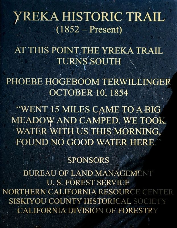 Yreka Historic Trail Marker image. Click for full size.