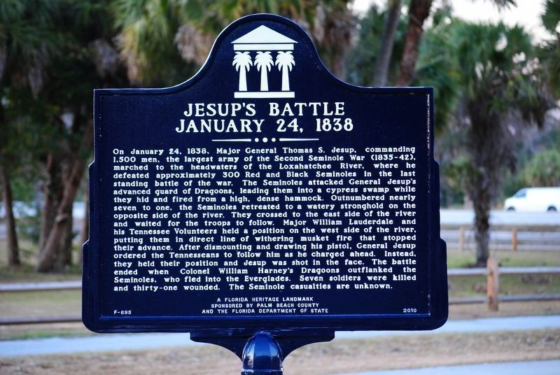 Jesup's Battle Marker image. Click for full size.