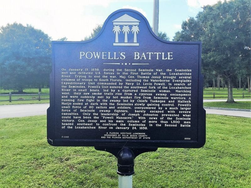 Powell's Battle Marker image. Click for full size.
