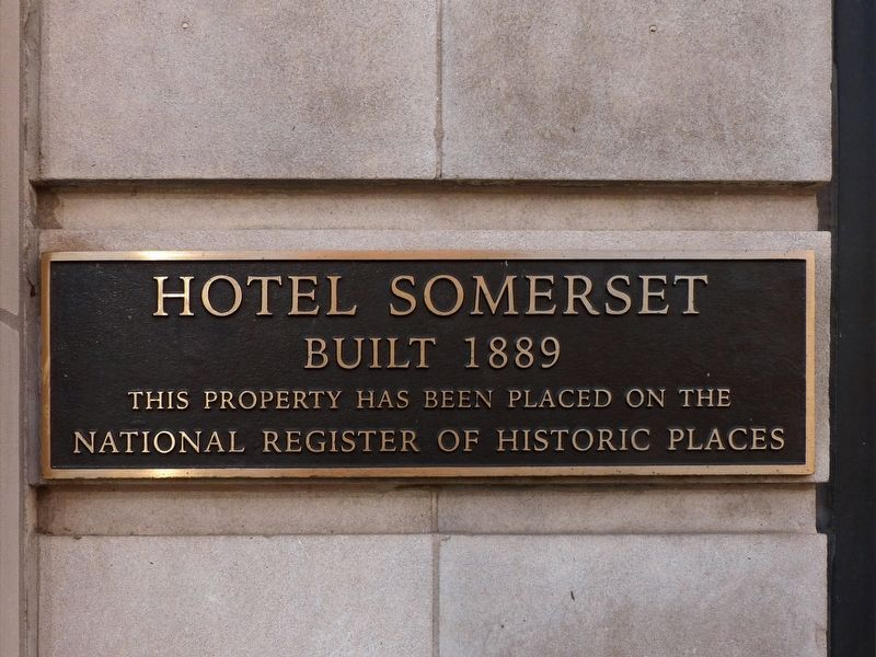 Hotel Somerset Marker image. Click for full size.