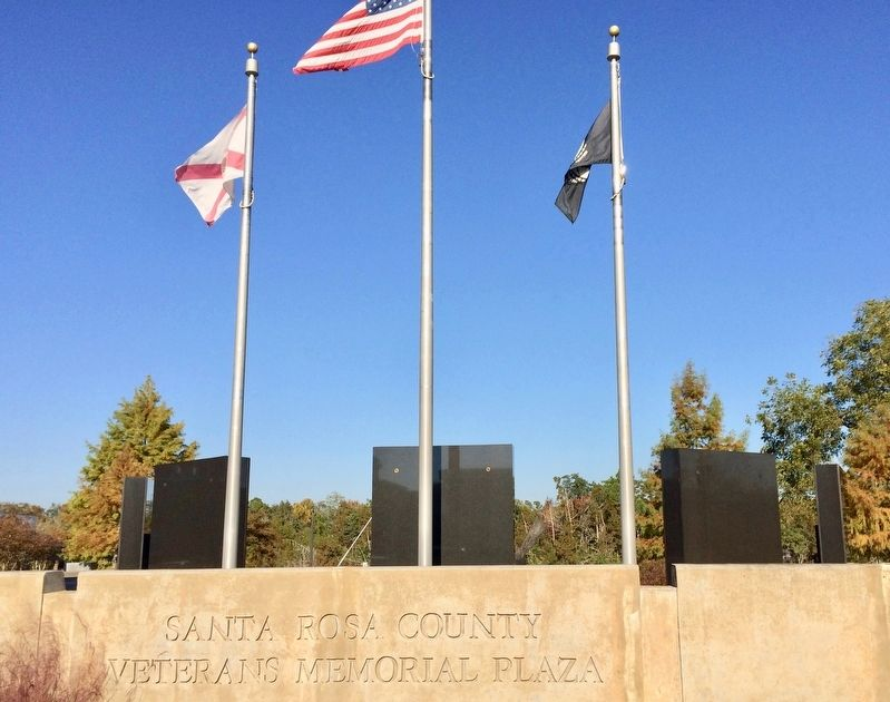 Santa Rosa County Veterans Memorial Plaza image. Click for full size.
