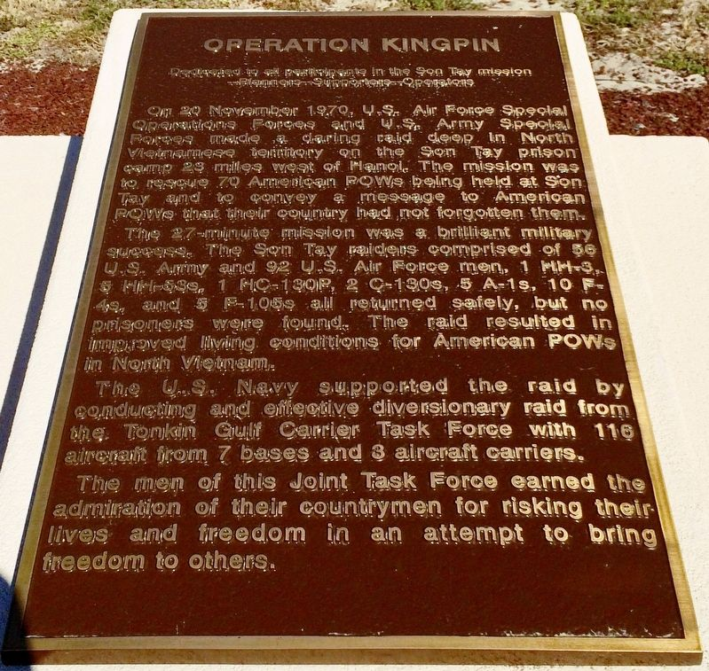 Operation Kingpin Marker image. Click for full size.