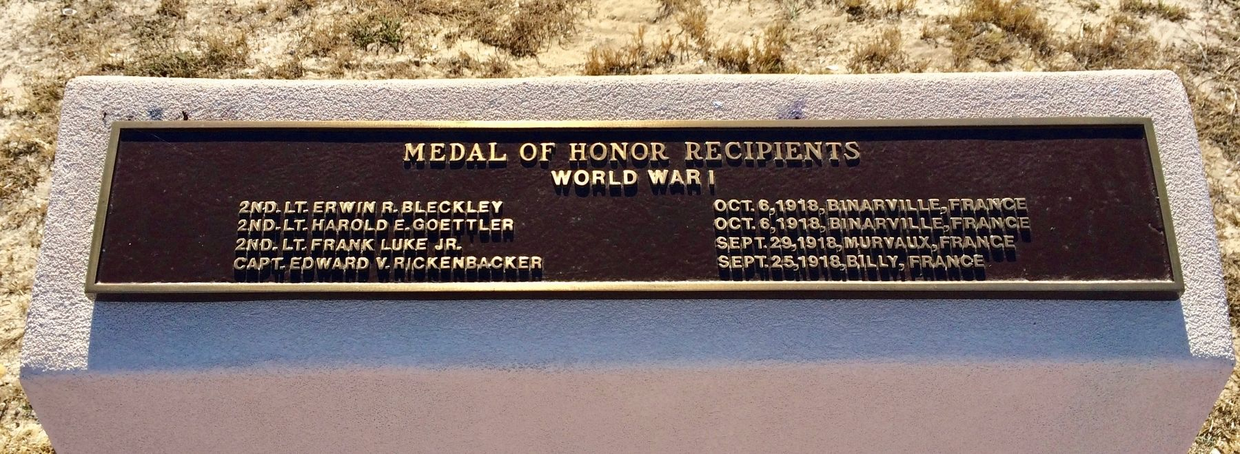 Medal of Honor Recipients Honor Roll image. Click for full size.