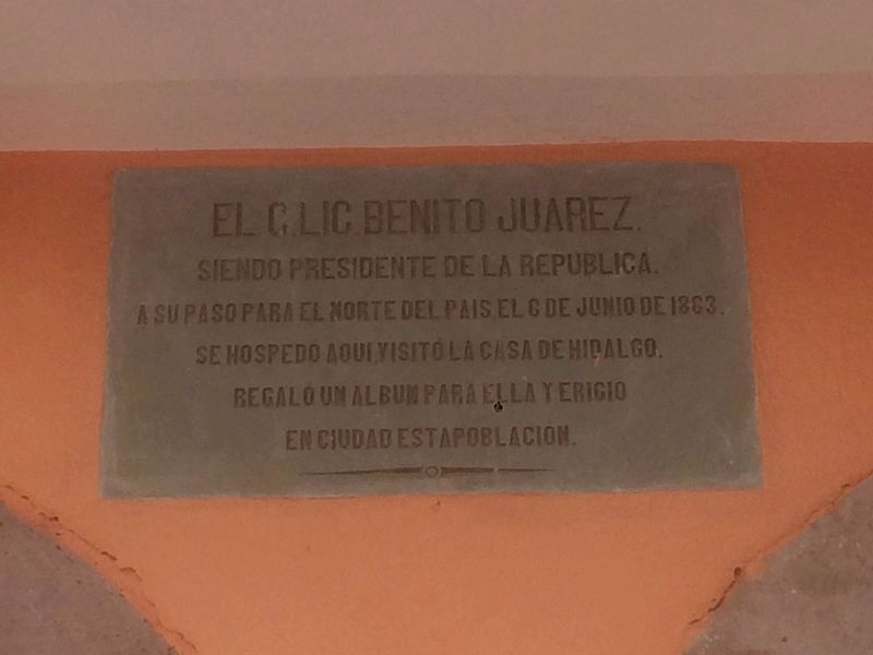 Nearby Benito Juárez marker image. Click for full size.