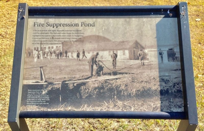 Fire Suppression Pond Marker image. Click for full size.