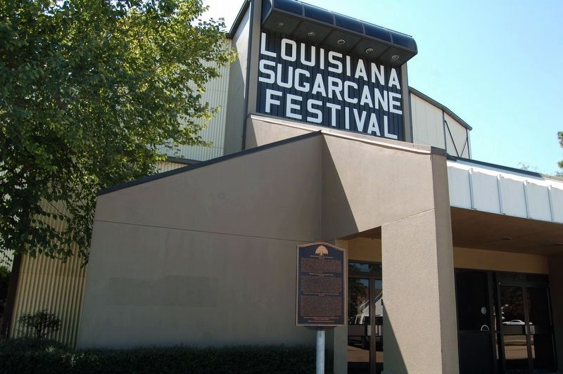 Sugar Cane Festival and Fair Building and Marker image. Click for full size.