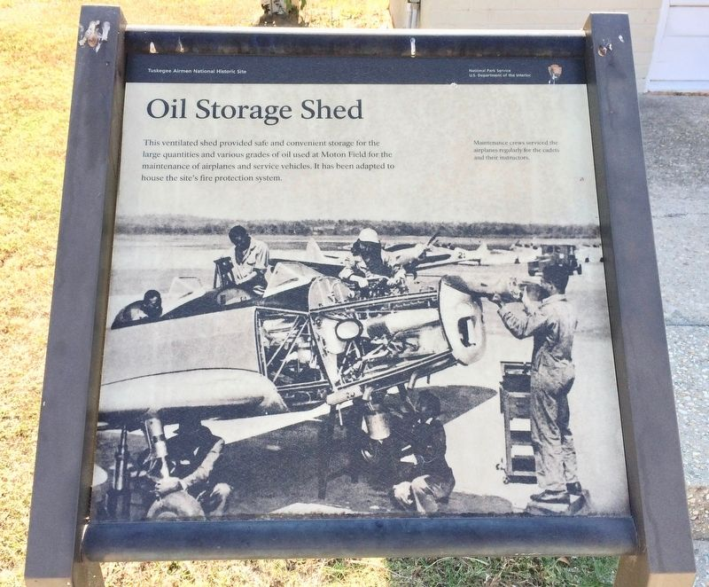 Oil Storage Shed Marker image. Click for full size.