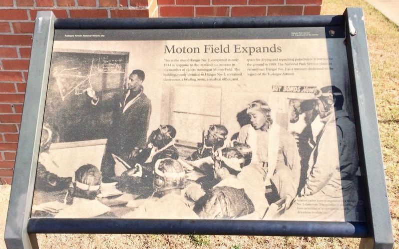 Moton Field Expands Marker image. Click for full size.
