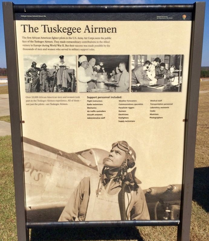 The Tuskegee Airmen Marker image. Click for full size.