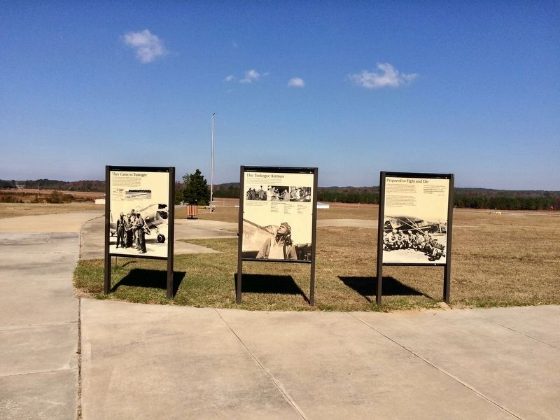 View of marker looking towards the Moton airfield. image. Click for full size.