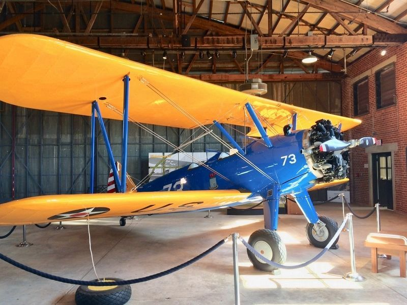 A Boeing-Stearman PT-17 trainer, located in the Hangar No. 1 here. image. Click for full size.