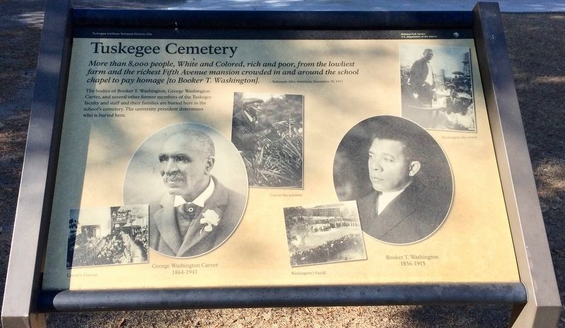 Tuskegee Cemetery Marker image. Click for full size.