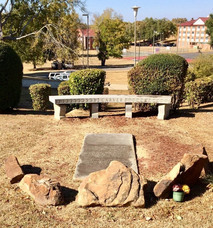 Gravesite of George Washington Carver at Tuskegee Cemetery. image. Click for full size.