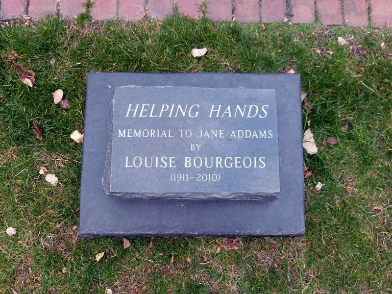 Helping Hands Memorial to Jane Addams<br>by Louise Bourgeois<br>(1911-2010) image. Click for full size.