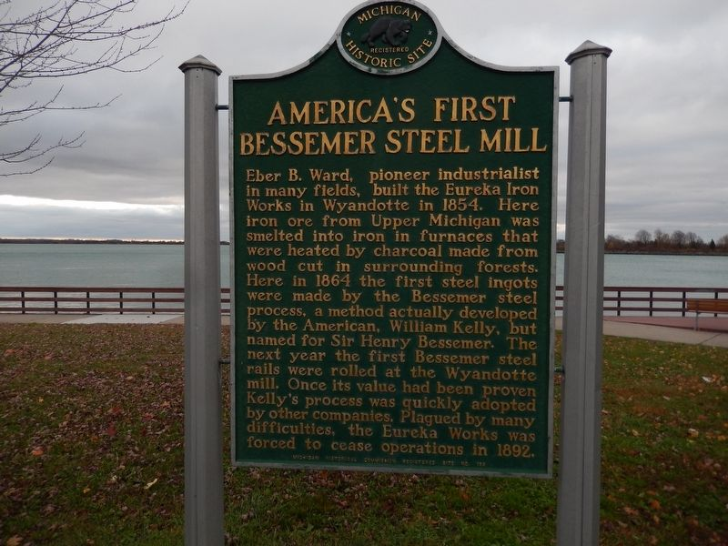 America's First Bessemer Steel Mill Marker image. Click for full size.
