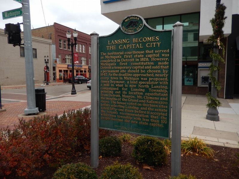 Lansing Becomes the Capital City Marker image. Click for full size.