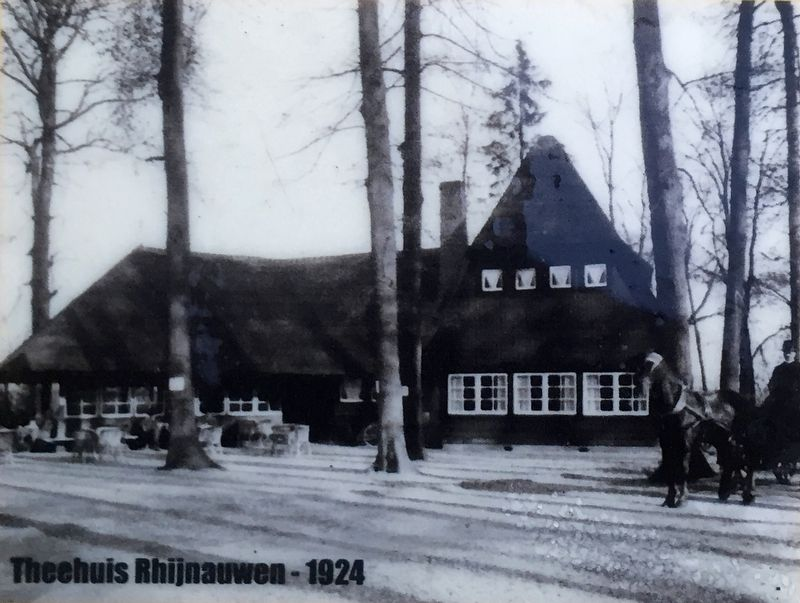 The Tea House at Rhijnauwen (1924) - Inset Photo on Marker image. Click for full size.