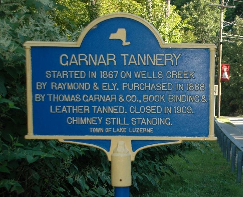 Garnar Tannery Marker image. Click for full size.