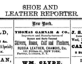 <B>Thomas Garnar & Co. Advertisement:</B> image. Click for full size.