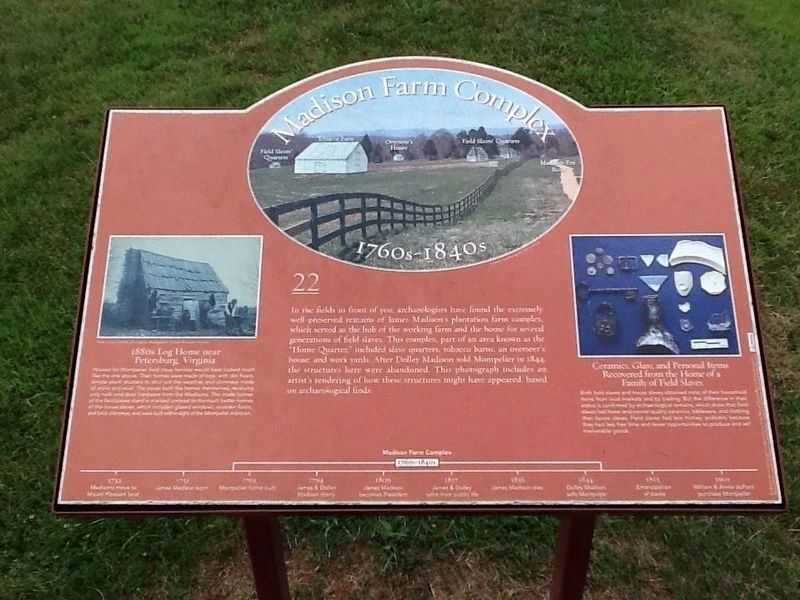 Madison Farm Complex Marker image. Click for full size.
