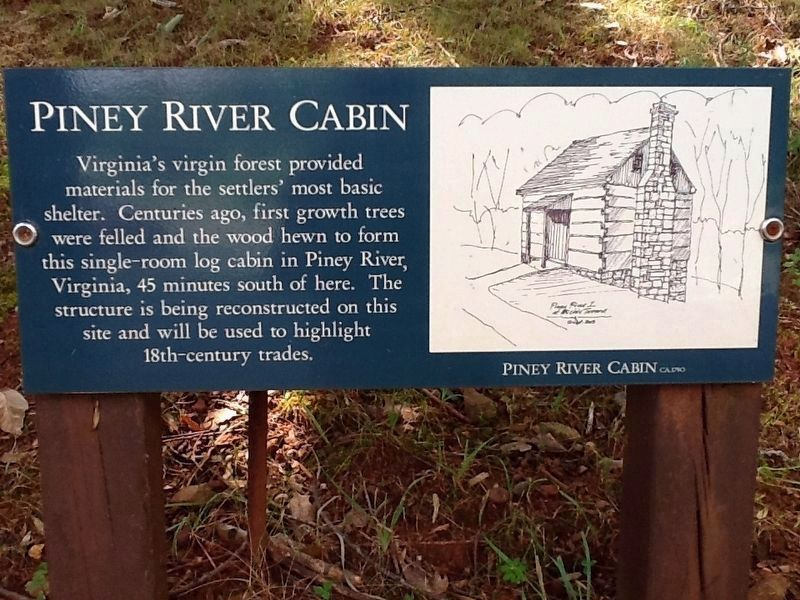 Piney River Cabin Marker image. Click for full size.