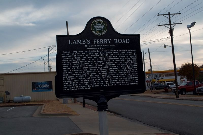Lamb's Ferry Road Marker (side 2) image. Click for full size.