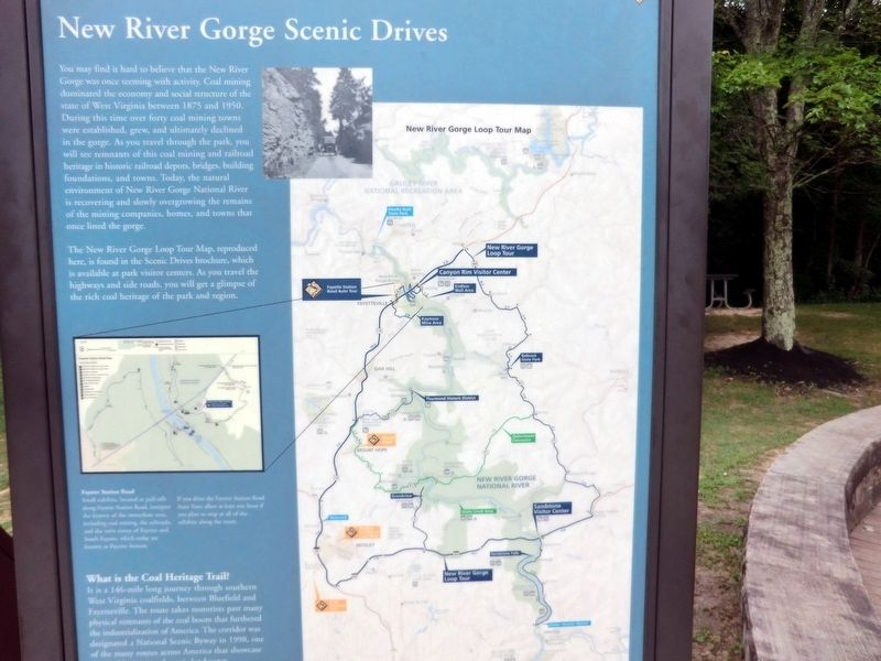 New River Gorge Scenic Drives Marker image. Click for full size.