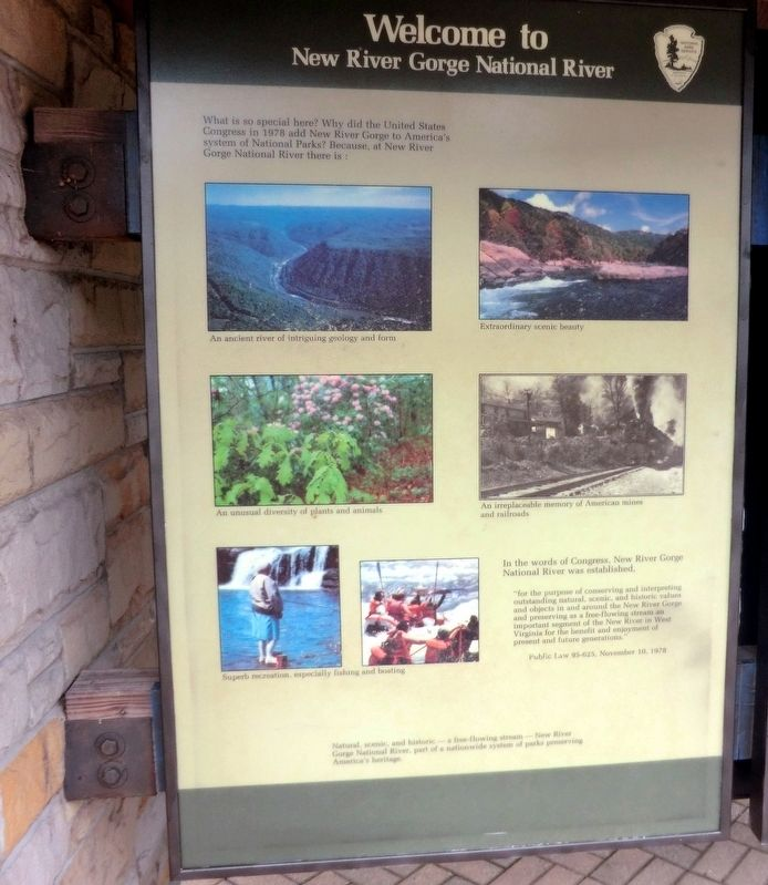 New River Gorge National River Marker image. Click for full size.
